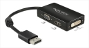 DeLOCK DisplayPort till HDMI/VGA/DVI adapter, 1920x1200 i 60Hz, svart